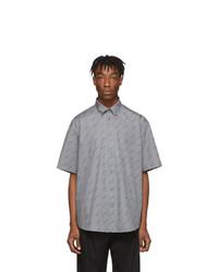 graues bedrucktes Kurzarmhemd von Balenciaga