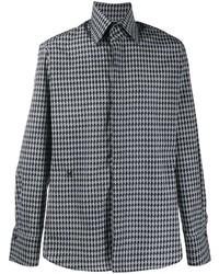 graues bedrucktes Langarmhemd von Karl Lagerfeld