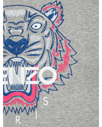 graues bedrucktes Langarmshirt von Kenzo