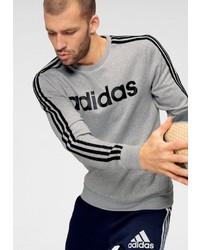 graues bedrucktes Sweatshirt von adidas