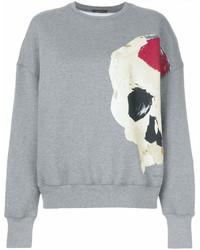 graues bedrucktes Sweatshirt von Alexander McQueen