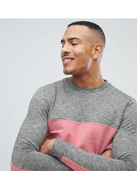 graues bedrucktes Sweatshirt von ASOS DESIGN