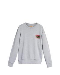 graues bedrucktes Sweatshirt von Burberry