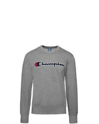 graues bedrucktes Sweatshirt von Champion