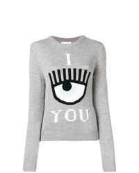 graues bedrucktes Sweatshirt von Chiara Ferragni