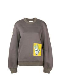graues bedrucktes Sweatshirt von Chloé