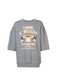 graues bedrucktes Sweatshirt von Dolce & Gabbana