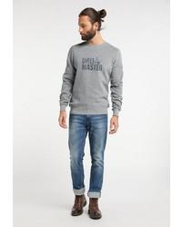 graues bedrucktes Sweatshirt von Dreimaster