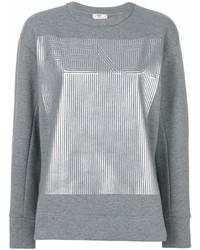 graues bedrucktes Sweatshirt von Fendi