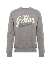 graues bedrucktes Sweatshirt von G-Star RAW