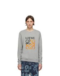 graues bedrucktes Sweatshirt von Loewe