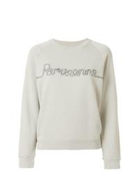 graues bedrucktes Sweatshirt von MAISON KITSUNE