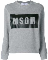 graues bedrucktes Sweatshirt von MSGM