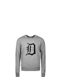 graues bedrucktes Sweatshirt von New Era