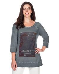 graues bedrucktes Sweatshirt von SHEEGO CASUAL