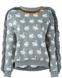 graues bedrucktes Sweatshirt von Stella McCartney