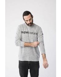 graues bedrucktes Sweatshirt von super natural