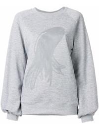 graues bedrucktes Sweatshirt