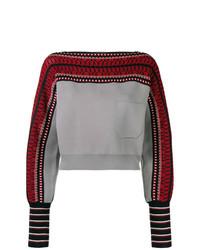 graues bedrucktes Sweatshirt von Temperley London