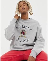 graues bedrucktes Sweatshirt von Tommy Jeans