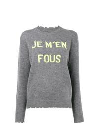graues bedrucktes Sweatshirt von Zadig & Voltaire