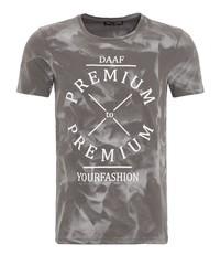 graues bedrucktes T-Shirt mit einem Rundhalsausschnitt von DANIEL DAAF