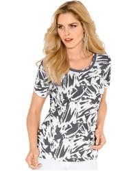 graues bedrucktes T-Shirt mit einem Rundhalsausschnitt von LADY