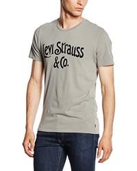 graues bedrucktes T-Shirt mit einem Rundhalsausschnitt von Levi's