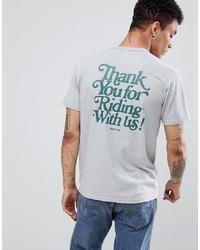 graues bedrucktes T-Shirt mit einem Rundhalsausschnitt von LEVIS SKATEBOARDING