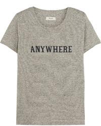 graues bedrucktes T-Shirt mit einem Rundhalsausschnitt von Madewell