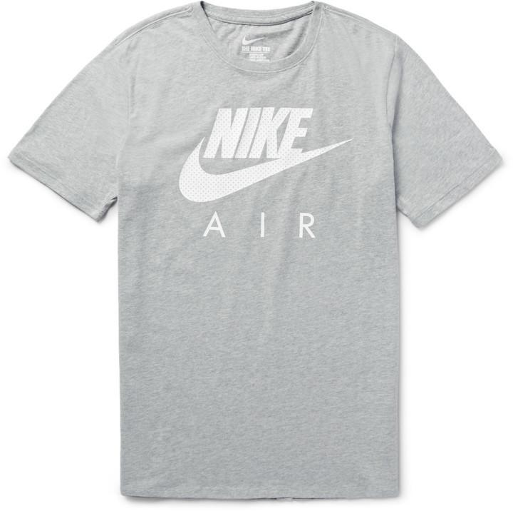 2018 sneakers innovative design official store €27, graues bedrucktes T-Shirt mit einem Rundhalsausschnitt von Nike