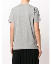 graues bedrucktes T-Shirt mit einem Rundhalsausschnitt von RED Valentino