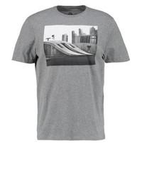 graues bedrucktes T-Shirt mit einem Rundhalsausschnitt von Element