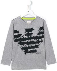 graues bedrucktes T-shirt von Armani Junior