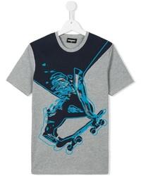 graues bedrucktes T-shirt von DSQUARED2