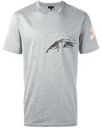 graues bedrucktes T-shirt von Lanvin