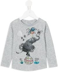 graues bedrucktes T-shirt von Stella McCartney