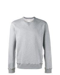 graues beschlagenes Sweatshirt von Valentino