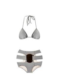 graues Bikinioberteil von Adriana Degreas