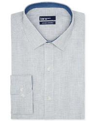 graues Businesshemd mit Hahnentritt-Muster