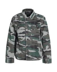 graues Camouflage Jeanshemd von J.Crew