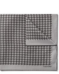 graues Einstecktuch mit Hahnentritt-Muster von Tom Ford