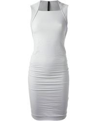 graues figurbetontes Kleid