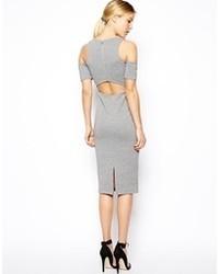graues figurbetontes Kleid von Asos