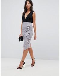 graues figurbetontes Kleid von AX Paris