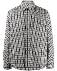 graues Flanell Langarmhemd mit Karomuster von Off-White