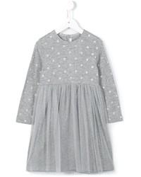 graues gepunktetes Kleid von Il Gufo