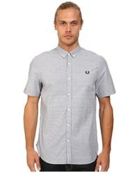 graues gepunktetes Kurzarmhemd