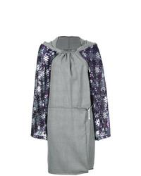 graues gerade geschnittenes Kleid mit Schottenmuster von Comme Des Garçons Vintage