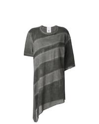 graues horizontal gestreiftes T-Shirt mit einem Rundhalsausschnitt von Lost & Found Rooms